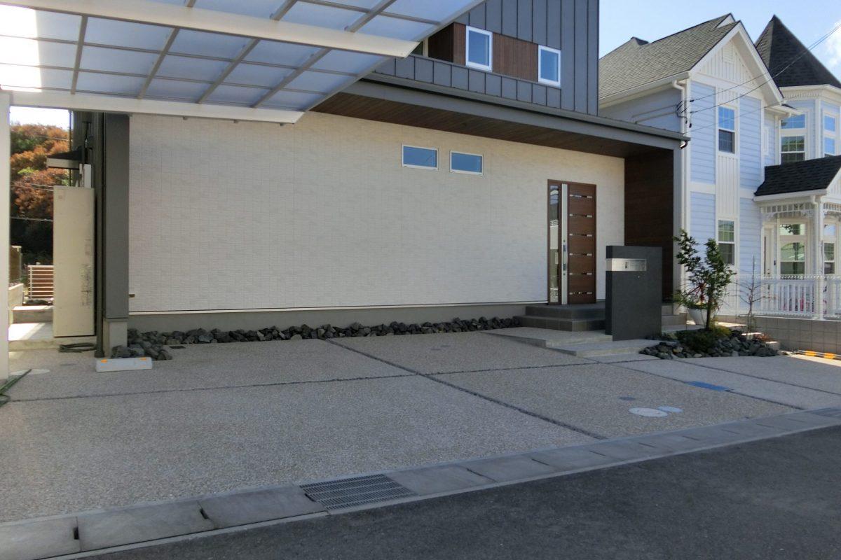 阿久比町 K様邸 洗い出しの駐車場